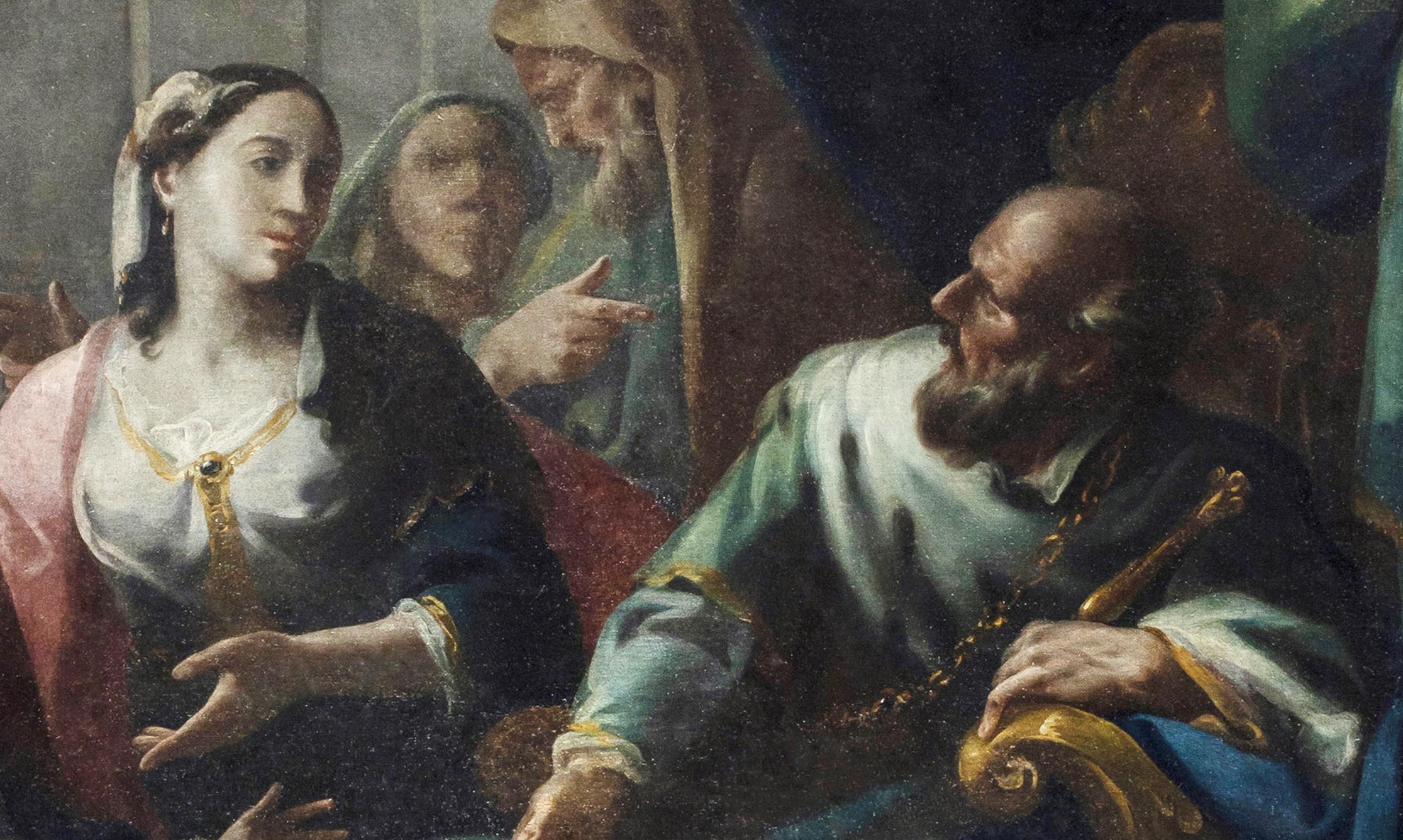Federico Ferrario - L'incontro di Davide con Betsabea e il piccolo Salomone