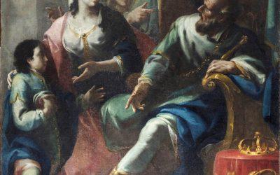 Federico Ferrario – L'incontro di Davide con Betsabea e il piccolo Salomone