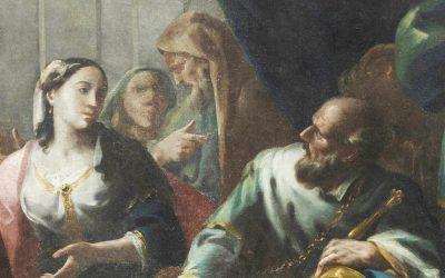 L'incontro di Davide con Betsabea  e il piccolo Salomone
